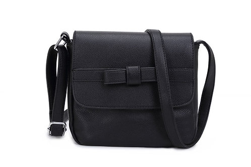 10390B Bow detailed small cross over bag