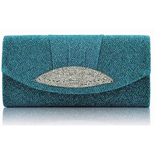 LSE00237.  Diamante Evening Clutch Bag