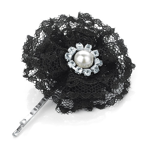 HA27546 -Black Lace hair grip