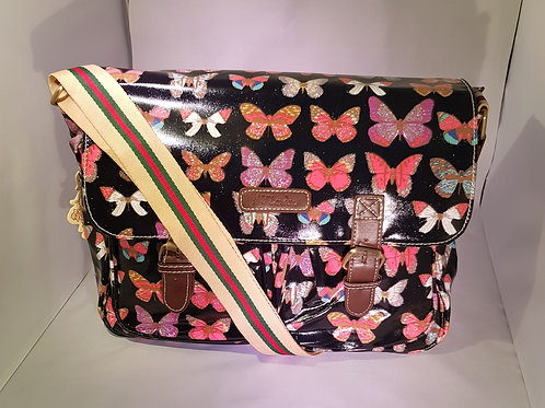 HT12812.  Butterfly Oil cloth Statchel