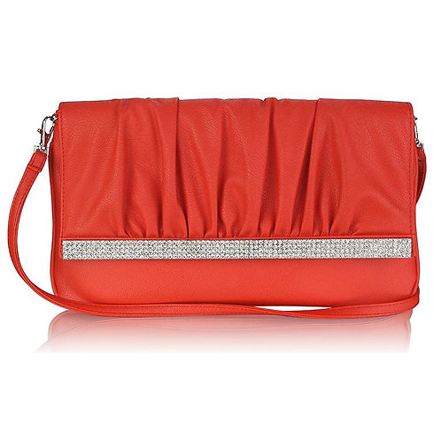 LSE00187.   Flapover Dimond detailed Clutch Purse
