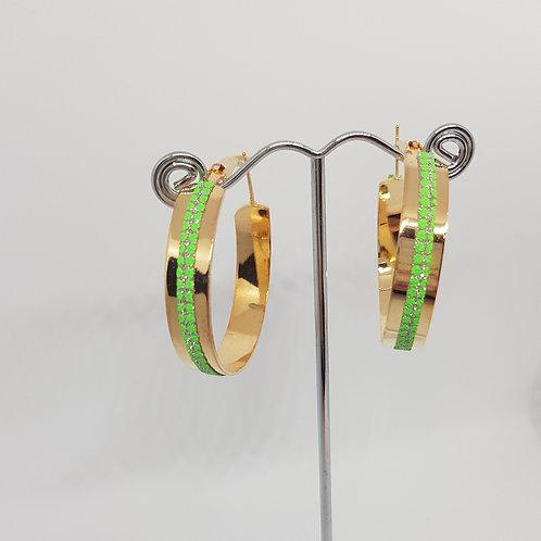E1R, E1S.  Hooped Blue Diamontie detailed Earrings