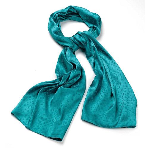 Aqua green spotted scarf.