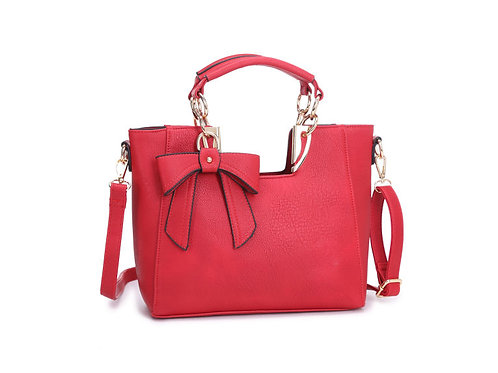 9945. Small bow detailed bag