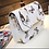 Thumbnail: BFLY.  Small White Butterfly detailed satchel bag with magnetic closure