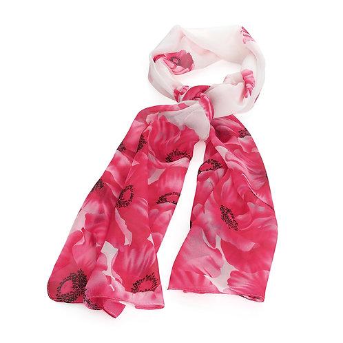 Fuchsia flower print scarf.