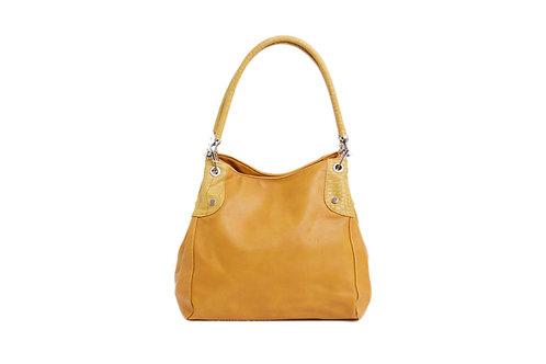278.  Hobo style, animal print detailed Handle handbag.