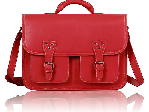 LS00162.  Double Pocket Old School Satchel