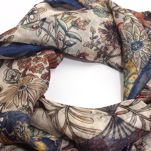 Multi-color Floral Print Women's Scarf