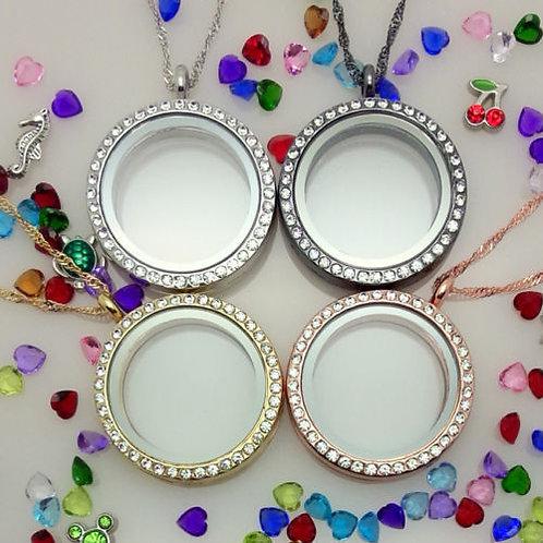 FLML & FCB.  New living memory floating necklaces & bracelets