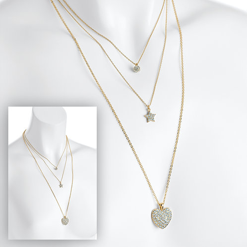 N31090. Gold charm necklace.