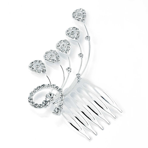 HA24838 - Silver hair comb