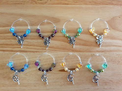Gin Glass Wine Fairy Design Hand Crafted Glass Charms