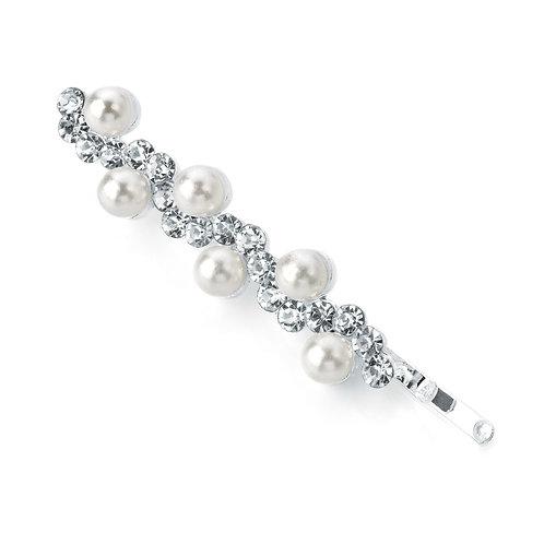 HA27500- Silver and pearl hair grip