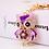 Thumbnail: H3L54.  Owl Crystal Key/Bag charms