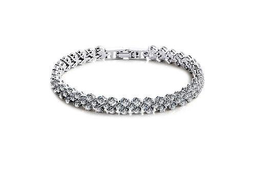925S. Roman style crystal bracelet.