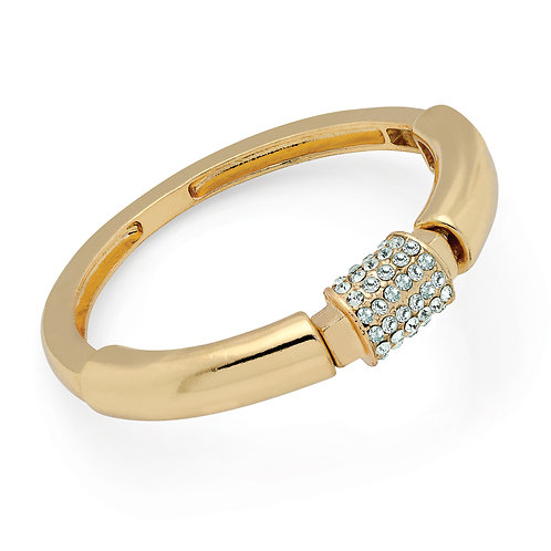 BA29715.  Gold and crystal bracelet.