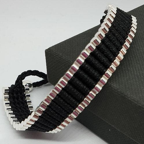 Black Cord Braided handmade bracelet