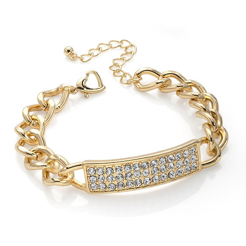 BL30031.  Gold and Crystal bracelet