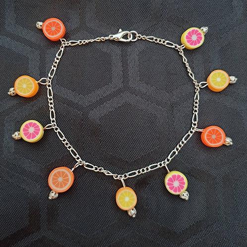 Funky handmade Citrus Fruit Charm Bracelet