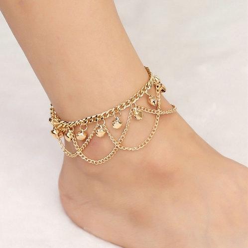 ITEM TASBELL.  Tassel Chain Gold Bells Sound  Ankle Bracelet