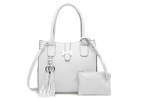 5002 Medium handbag with tassels.