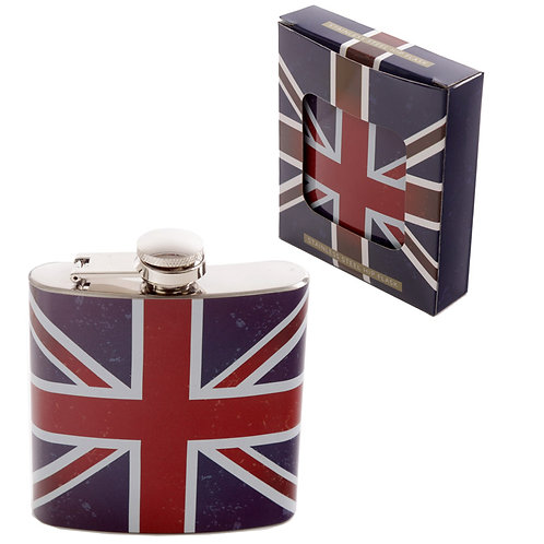 FLK24.  Union Jack Hip Flasks.