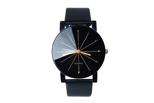 PCDH.   Mens charm luxury PU leather watch.