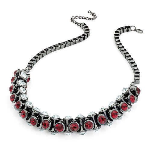 N29682.  Red crystal chain necklace