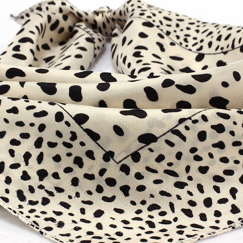 Beige Square Animal Print Women's Scarf