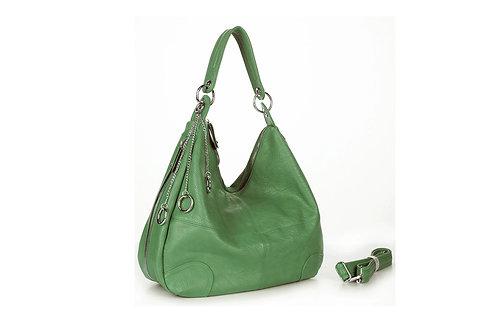 LAS20101.  Hobo style zipped detailed handbag.