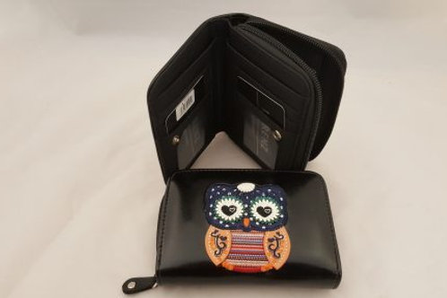 OWLP.Embroidered Owl purse.