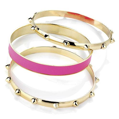 BA26166.  Neon pink stud bangle.