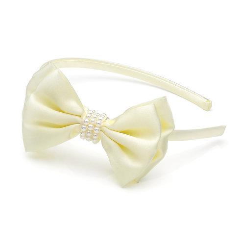 HA28805 - Cream bow headband