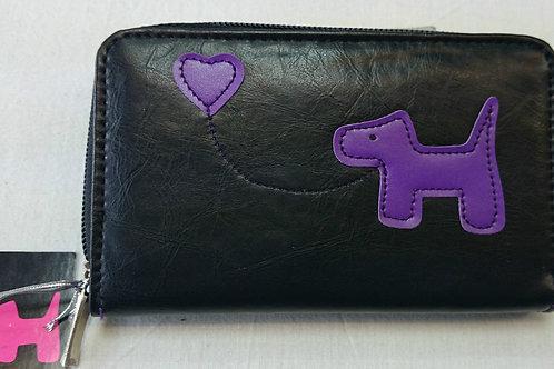 Black and purple ladies fabretti purse.