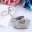 Thumbnail: 01061.  Silver or gold plated heart bag/key charm