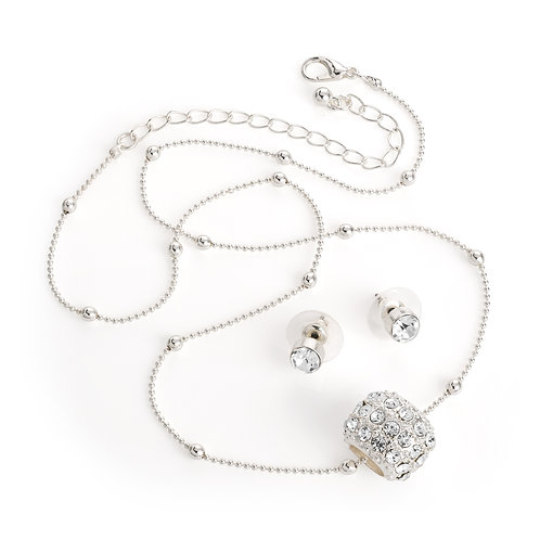 N30836 - Barrel necklace and earring set