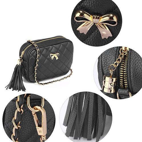Ls00540.  Black Cross Body Shoulder Bag