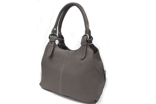 33622.  Hobo style, buckle detailed handbag.