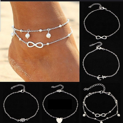 5AB.  Elegant Simple Anklet/bracelet.