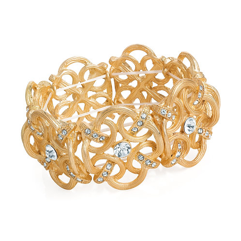 BL31111.  Worn gold elasticated bracelet.