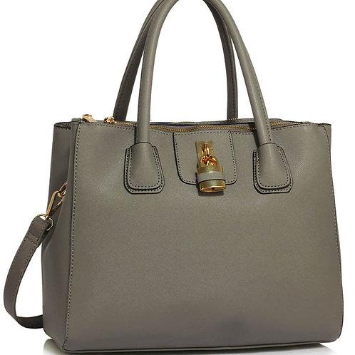Grey Three Zipper Grab Bag