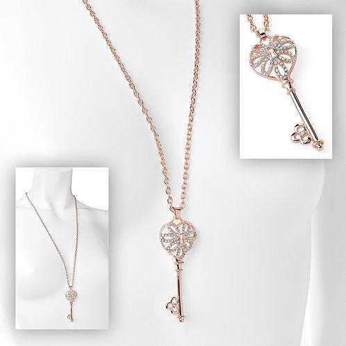 N31231.  Rose gold key necklace