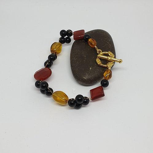 Carnelian & Onyx Handmade bracelet