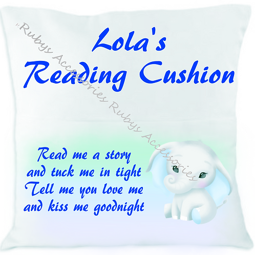 Personalised Elephant Reading Cushion