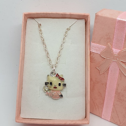Hello Kitty Necklace 18 inch Chain & Small Gift Box