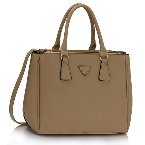 Tote Style Handbag in Taupe