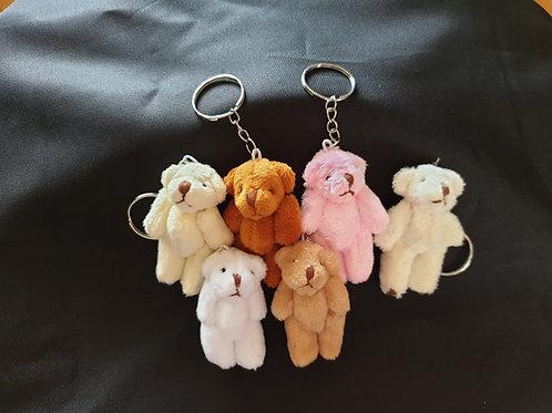Miniature Handmade Teddy Bear Keyring - Bag Charms