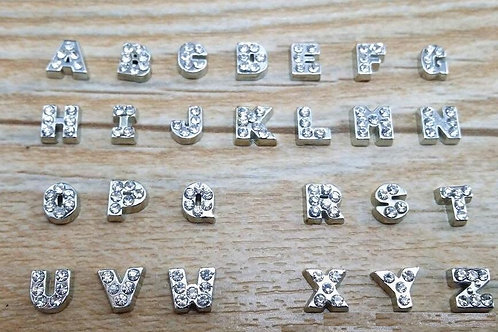 DLC.  A - Z Crystal Alphabet Floating Charms For Living Memory Pendant