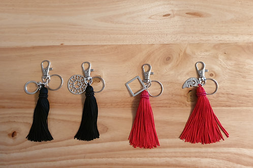 Tassel Charm Key Ring/Bag Charms - handmade